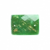 Resin Sew-on Dichroic Style 10pcs 15x21mm Rectangle Emerald